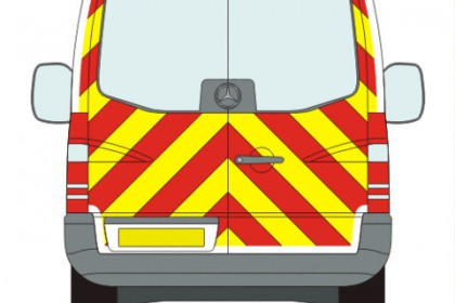 Mercedes-Benz Sprinter Full Chevron Kit with Window cut-outs (2006-) (Low Roof)